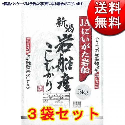 【送料無料】新潟県産 岩船こしひかり JAにいがた岩船産地指定米 5kg×3 (計15kg)【直送品・クレジット決済のみ】NF