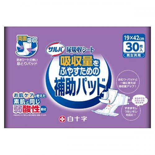 【送料無料】サルバ尿吸収シート男女共用 30枚×6パック(白十字)【直送品】