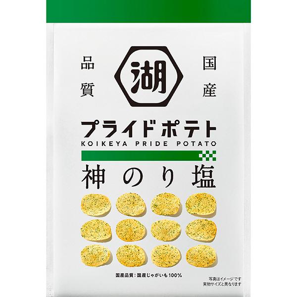 湖池屋 PRIDE POTATO神のり塩 58g×12個入り (1ケース) (YB)