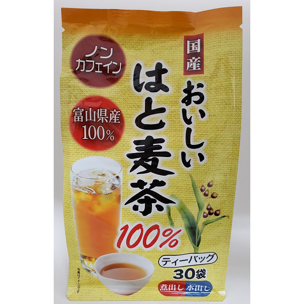 富山県産 おいしいはと麦茶100% 30袋