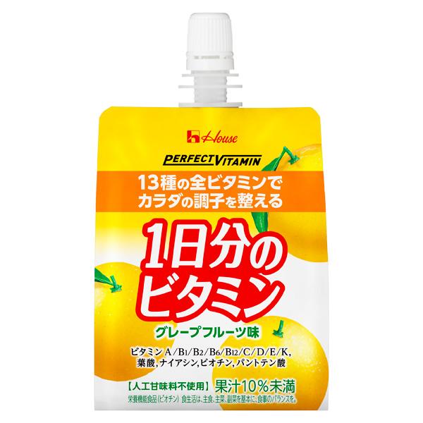 PERFECT VITAMIN 1日分のビタミンゼリー グレープフルーツ味 180g×24個入り(1ケース)