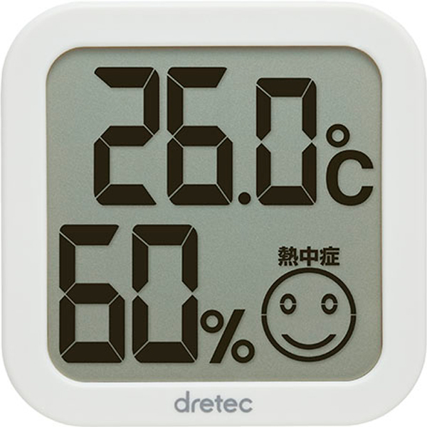 O-271 デジタル温室時計 ホワイトYW