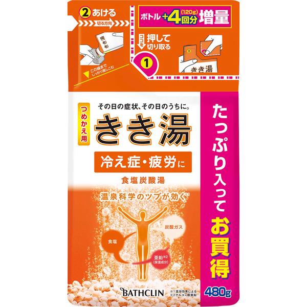 きき湯 食塩炭酸湯 つめかえ用 480g (医薬部外品)