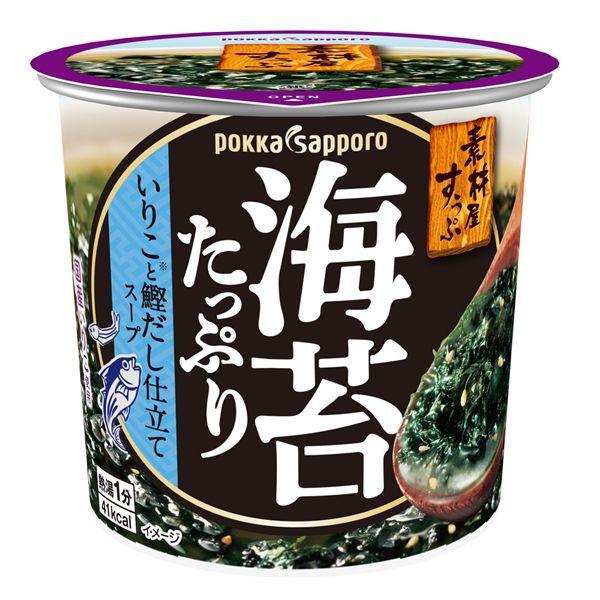 ポッカサッポロ 素材屋すうぷ海苔たっぷりスープカップ 11.2g 6個パック KK【クレジット決済のみ】