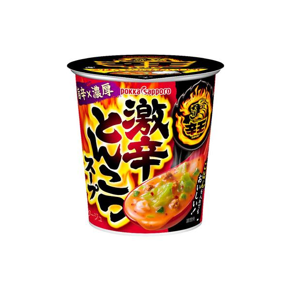 ポッカサッポロ 辛王 激辛とんこつスープ 18.9g×24個入り (1ケース) (MS)