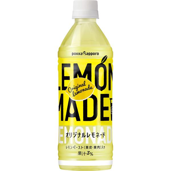 ポッカサッポロ LEMON MADE オリジナルレモネード 500ml×24本入り (1ケース) (MS)