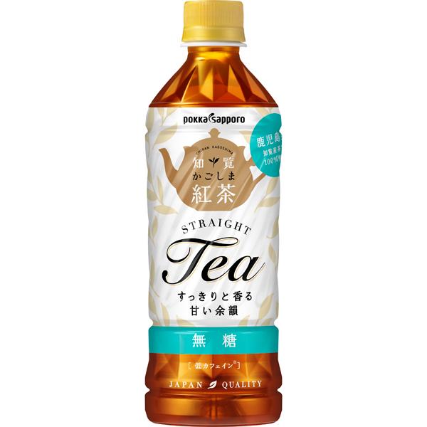 ポッカサッポロ かごしま知覧紅茶無糖 500ml×24個入り (1ケース) (MS)