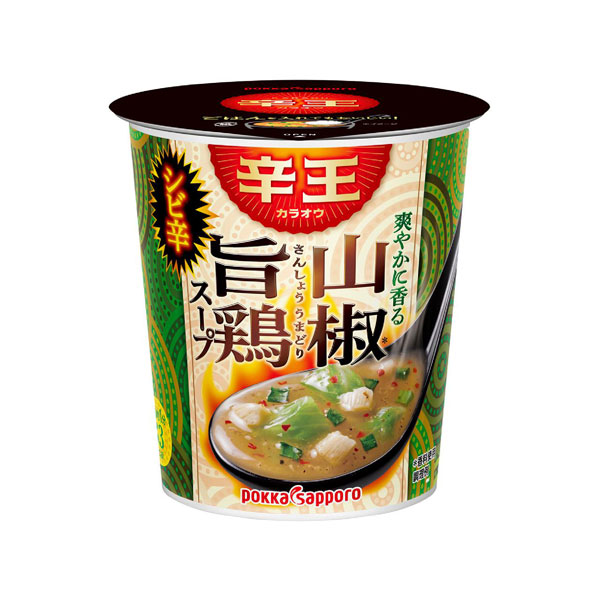 ポッカサッポロ 辛王爽やかに香る山椒旨鶏スープカップ 22.3g×24個入り (4ケース) (MS)