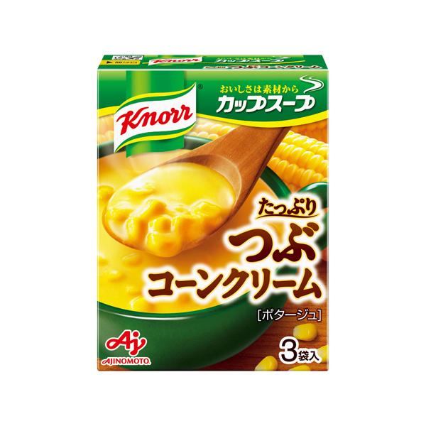 味の素 クノ-ルカップスープつぶたっぷりコーンクリーム 49.5g×60個入り (1ケース) (KT)