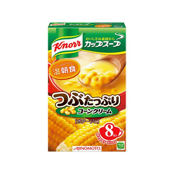 味の素 クノール カップスープ8袋 つぶたっぷりコーンクリーム 132g 8袋×6パック KK【クレジット決済のみ】