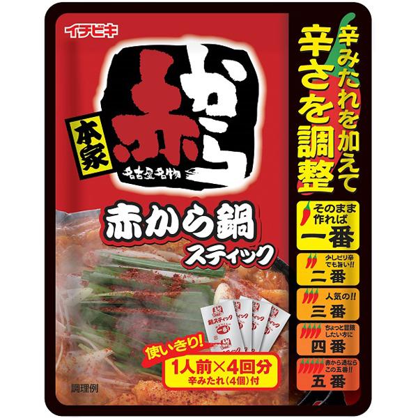 イチビキ 赤から鍋スティック 4P×10個入り (1ケース) (KT)