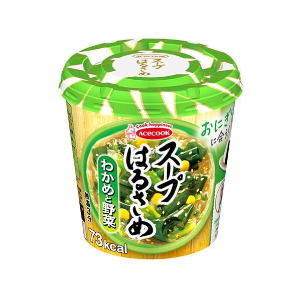 エースコック スープはるさめ わかめと野菜 21g×18個入り (6ケース) (KT)