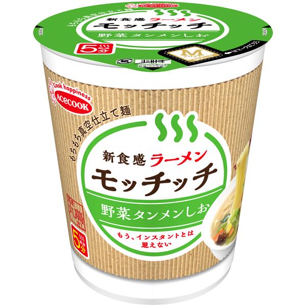 ラーメンモッチッチ 野菜タンメンしお 66g×12個入り (1ケース) (MS)