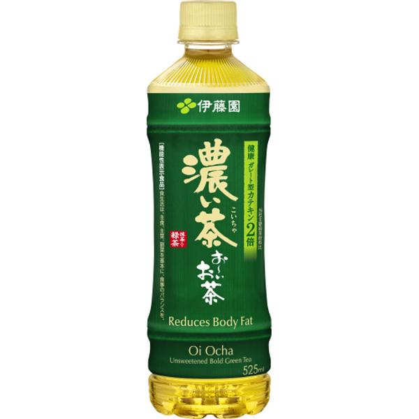 機能性表示食品 お~いお茶 濃い茶 525ml×24本(1ケース)(伊藤園)