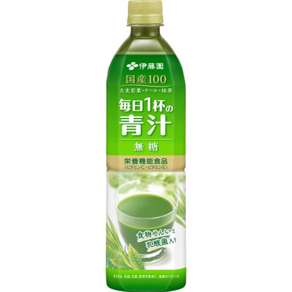 送料無料 毎日1杯の青汁 無糖 PET 900g (1ケース12本) (伊藤園)