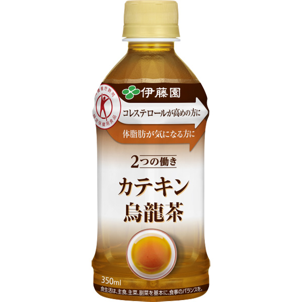 【特定保健用食品】2つの働き カテキン烏龍茶 350ml 24本入り(1ケース)(伊藤園)