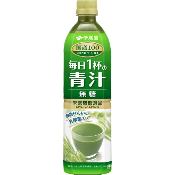 毎日1杯の青汁 無糖 900ml 12本入り(1ケース)(伊藤園)