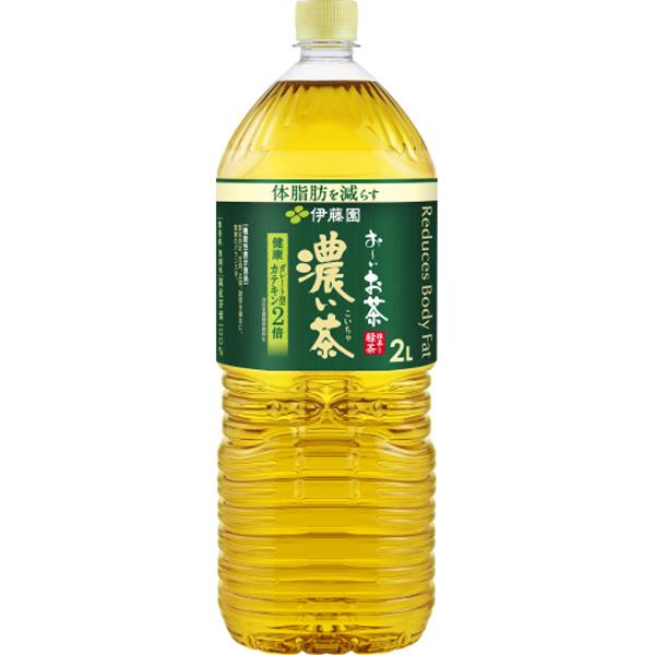 機能性表示食品 お~いお茶 濃い茶 2L×6本(1ケース)(伊藤園)