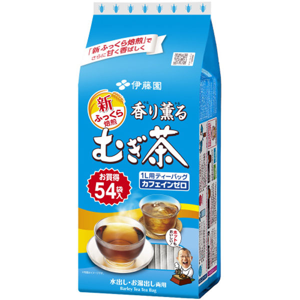 香り薫るむぎ茶ティーバッグ 54袋×10個入り (1ケース)(伊藤園)