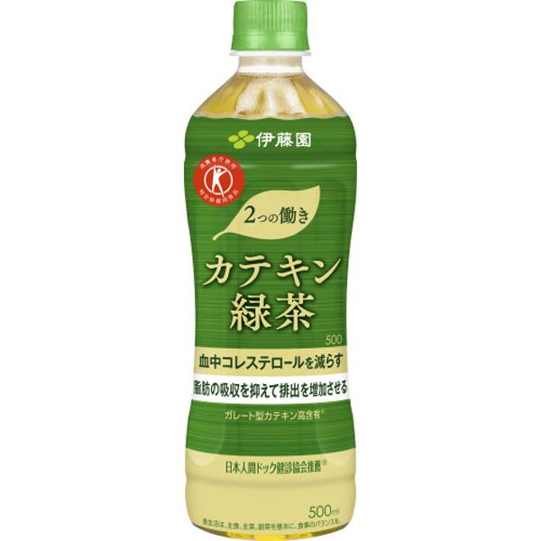2つの働きカテキン緑茶【特定保健用食品】 500ml×24本入り (1ケース)(伊藤園)