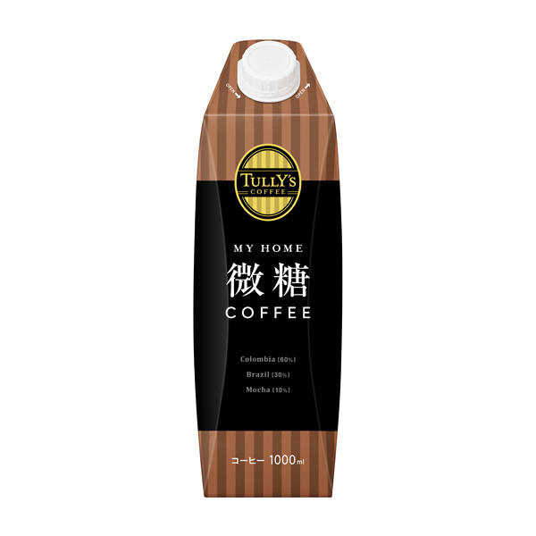 TULLY'S COFFEE MY HOME 微糖 紙キャップ付 1000ml×6本入り (1ケース)(伊藤園)