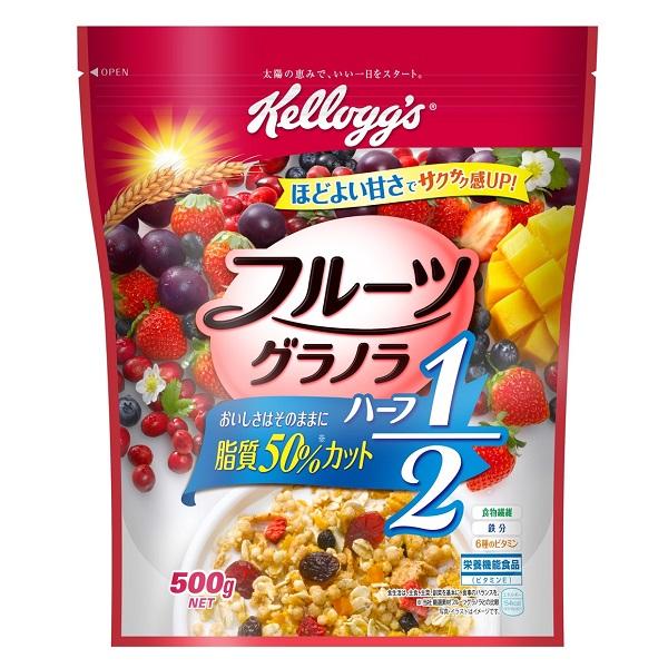 ケロッグフルーツグラノラハーフ徳用袋 500g 12個入り×1ケース【クレジット決済のみ】KK