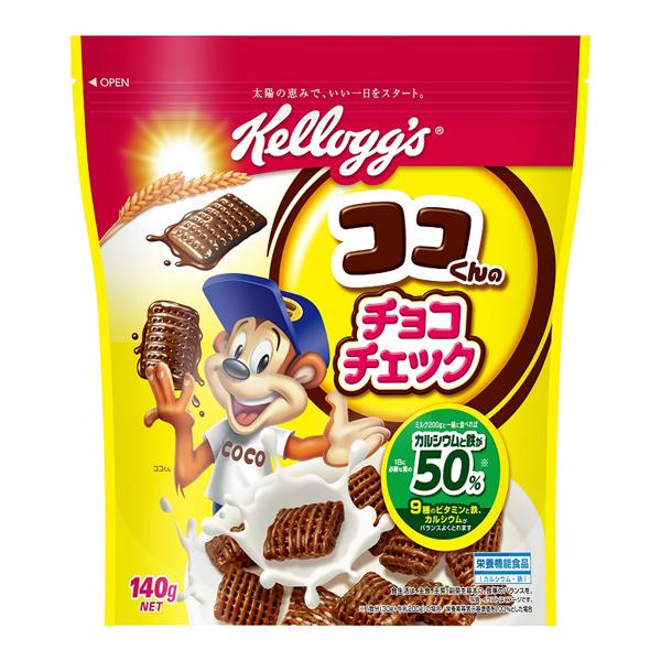 送料無料 ケロッグチョコチェック140g 12個入り×1ケースKK