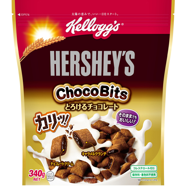 ケロッグ ハーシーチョコビッツとろけるチョコレート 340g×12個入り (2ケース) (KT)