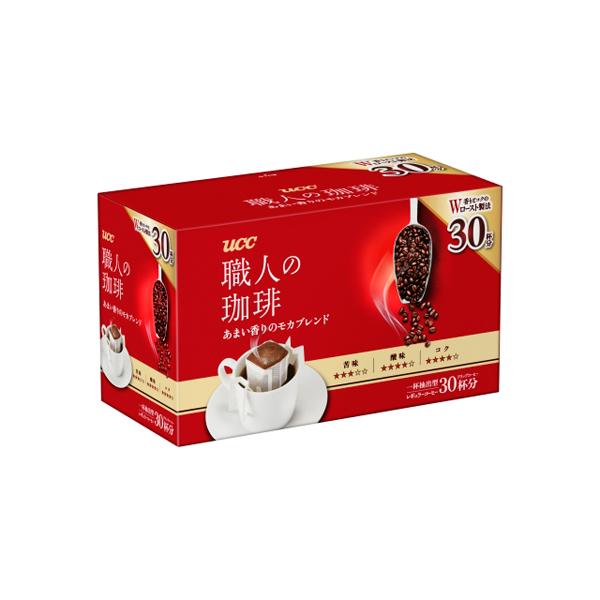 UCC 職人の珈琲 ドリップコーヒー あまい香りのモカブレンド 210g(7g×30袋)×6個入り (1ケース) (KT)