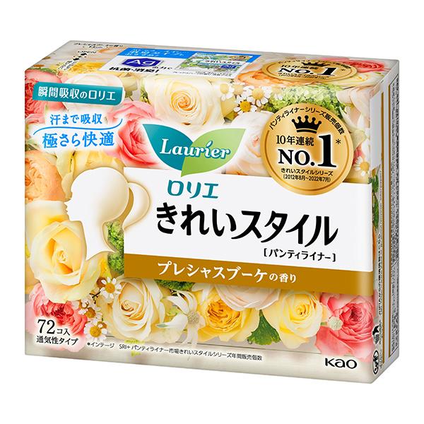 送料無料 花王 ロリエきれいスタイルスパークリングフルーツ 72枚×12個(1ケース)KO