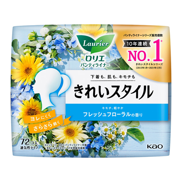 ロリエ きれいスタイル フレッシュフローラルの香り 72個入×12パック(1ケース)花王 KO