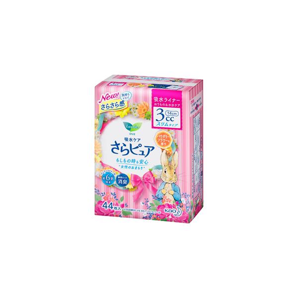 ロリエ さらピュア 3cc パウダリーフラワーの香り 吸水ライナー 44枚入×18パック(1ケース)花王 KO