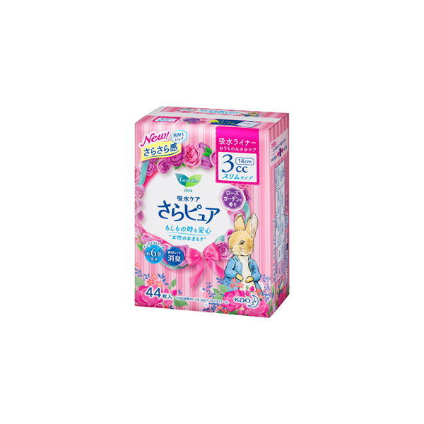 ロリエ さらピュア 3cc ローズガーデンの香り 吸水ライナー 44枚入×18パック(1ケース)花王 KO