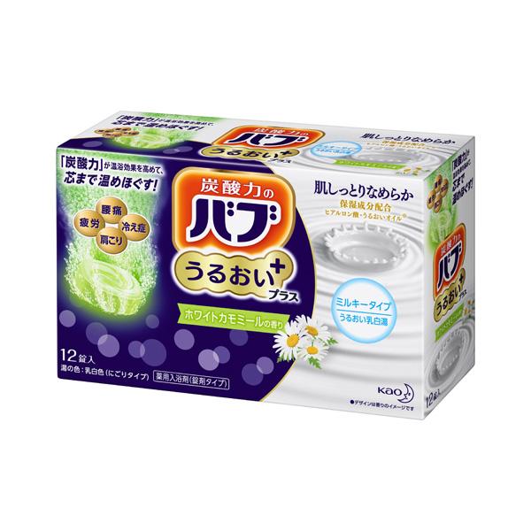 バブ うるおいプラス ホワイトカモミールの香り 12錠(医薬部外品) KO 花王