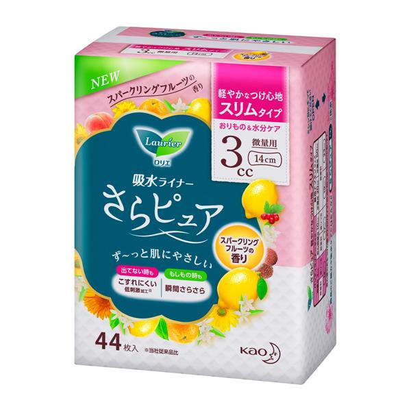 送料無料 花王 ロリエさらピュア スリムタイプ 3CC スーパークリーングフルーツの香り 44枚×18個(1ケース)KO