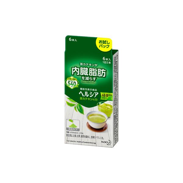 ヘルシア 茶カテキンの力 緑茶風味 3.0g×6本入り 【機能性表示食品】 KO 花王