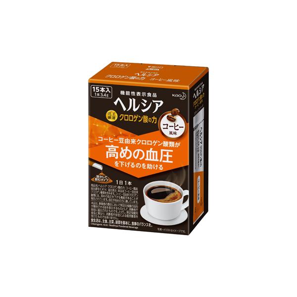 ヘルシア クロロゲン酸の力 コーヒー風味 3.4g×15本入り 【機能性表示食品】 KO 花王