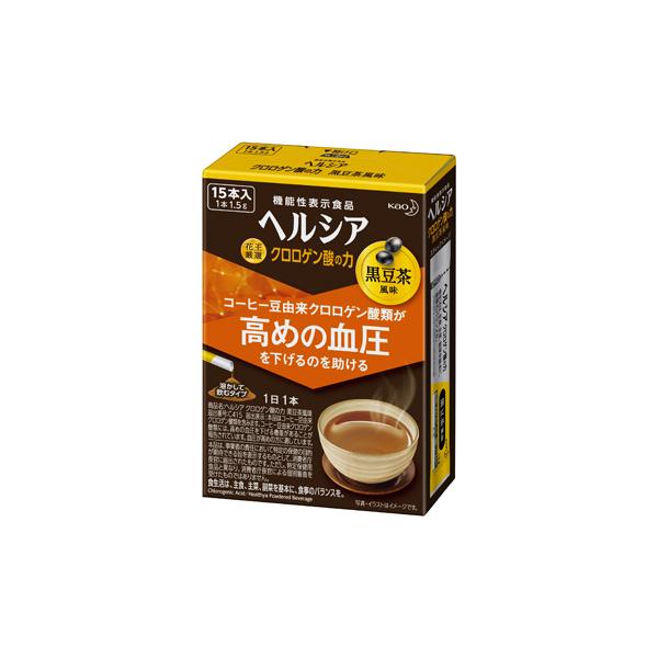ヘルシア クロロゲン酸の力 黒豆茶風味 1.5g×15本入り 【機能性表示食品】 KO 花王
