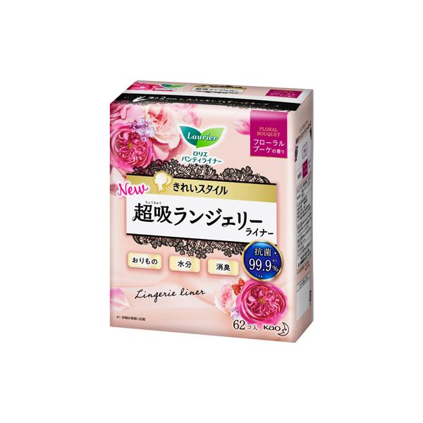 ロリエ きれいスタイル超吸ランジェリーライナー フローラルブーケの香り 62個入 花王 KO
