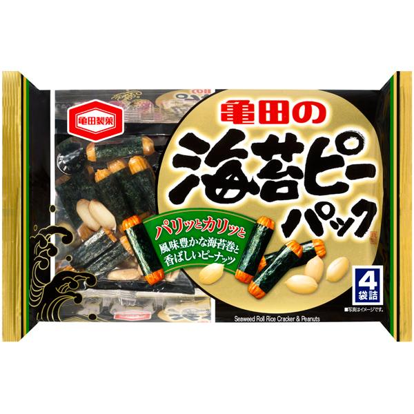 亀田製菓 海苔ピーパック 89g×12個入り (1ケース) (YB)