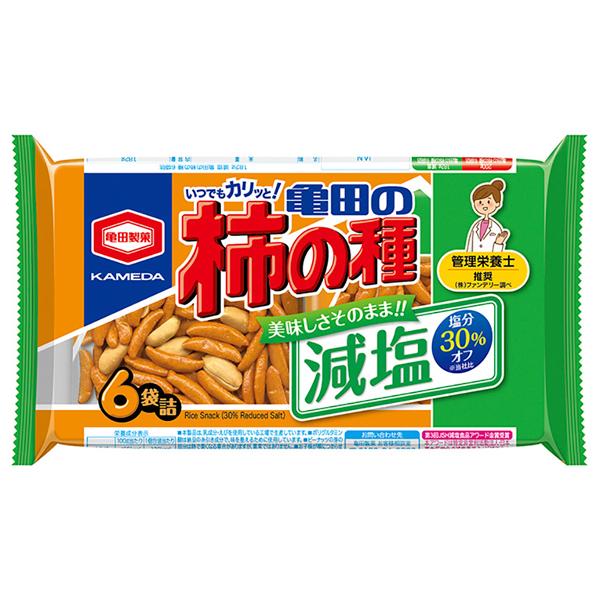 亀田製菓 減塩亀田の柿の種6袋詰 182g×12個入り (1ケース) (YB)