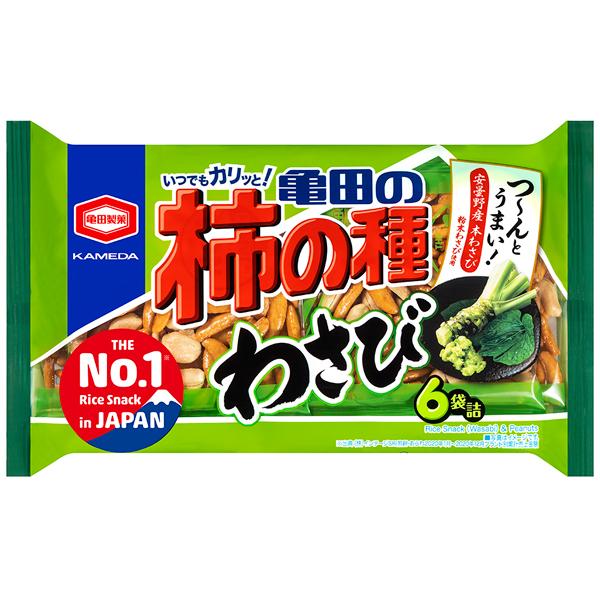 亀田製菓 亀田の柿の種わさび6袋詰 173g×12個入り (1ケース) (YB)