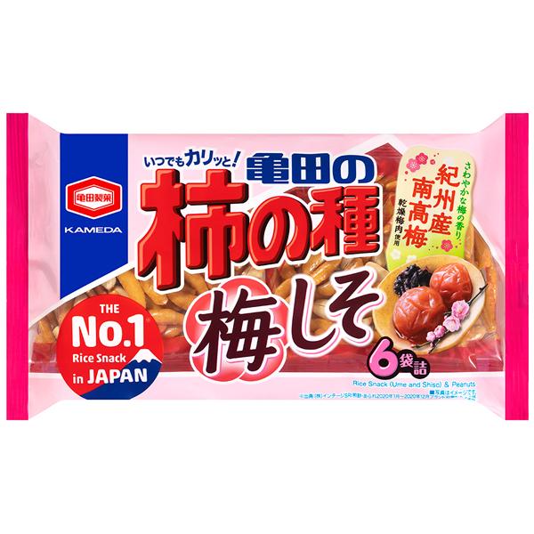亀田製菓 亀田の柿の種梅しそ6袋詰 173g×12個入り (1ケース) (YB)
