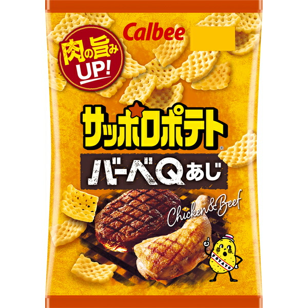 カルビー サッポロポテト バーベQあじ 80g×12個入り (1ケース) (MS)