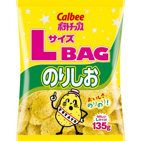 カルビー ポテトチップスLサイズBAG のりしお味 135g×12袋(1ケース)(YB)