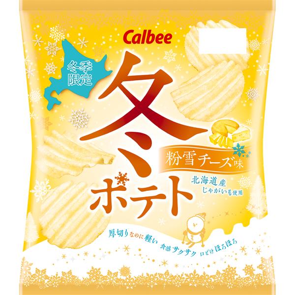 カルビー 冬ポテト 粉雪チーズ味  65g×12個入り (1ケース) (MS)