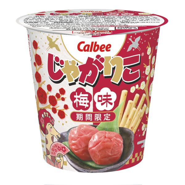 カルビー じゃがりこ梅味 52g×12個入り (1ケース) (MS)