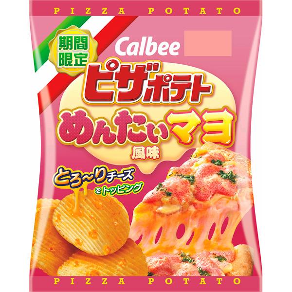 カルビー ピザポテトめんたいマヨ風味 60g×12個入り (1ケース) (MS)
