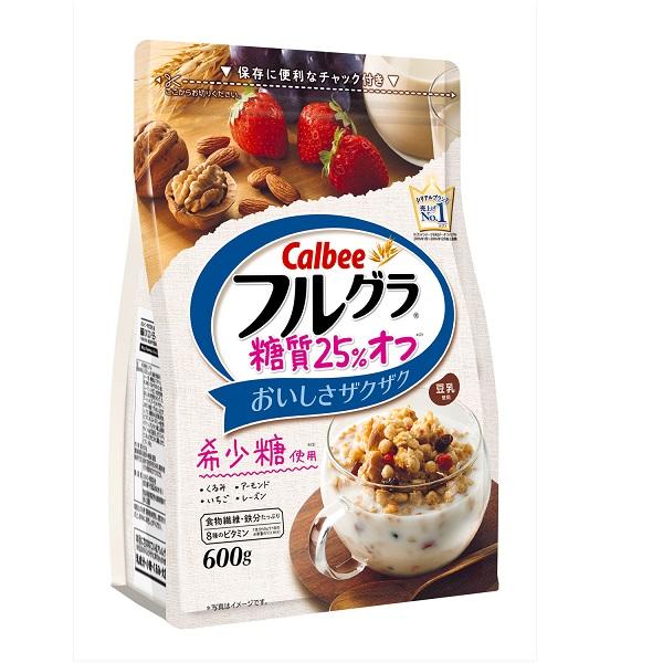 【月間特売】カルビー フルグラ糖質25%オフ  600g 6袋×1ケース【クレジット決済のみ】YB