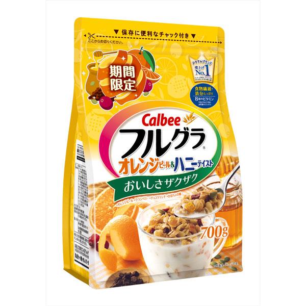 送料無料 カルビー フルグラオレンジピール&ハニーテイスト 6袋(1ケース)(YB)